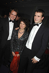 Left to right, JP MAGNIER, MARIA NIARCHOS and MV MAGNIER at the 17th annual Cartier Racing Awards 2007 held at the Four Seasons Hotel, Hamilton Place, London on 14th November 2007.<br /> <br /> NON EXCLUSIVE - WORLD RIGHTS