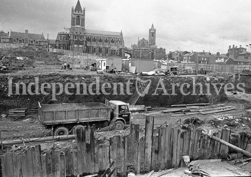 The Liberties in Dublin and the view over the Wood Quay site, May 14 1975.<br />