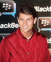 Joey Essex was attending Blackberry's BBM Event - a celebration of the smartphone's free instant messaging app. The Bankside Vaults, London, UK. April 03, 2012. (Photo by Brett Cove)