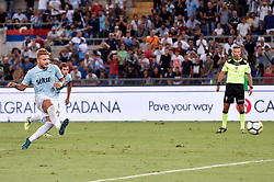 August 13, 2017 - Rome, Italy - Ciro Immobile of Lazio scores first goal with a penalty kick during the Italian Supercup Final match between Juventus and Lazio at Stadio Olimpico, Rome, Italy on 13 August 2017. (Credit Image: © Giuseppe Maffia/NurPhoto via ZUMA Press)