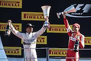 September 3-5, 2015 - Italian Grand Prix at Monza: Lewis Hamilton (GBR), Mercedes, Sebastian Vettel (GER), Ferrari