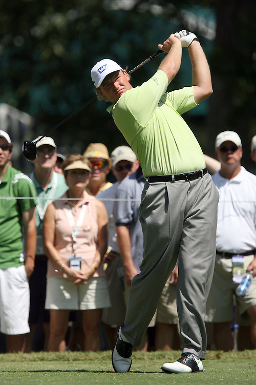 09 August 2007: Ernie Els tees off on the 4th hole during the first round of the 89th PGA Championship at Southern Hills Country Club in Tulsa, OK.
