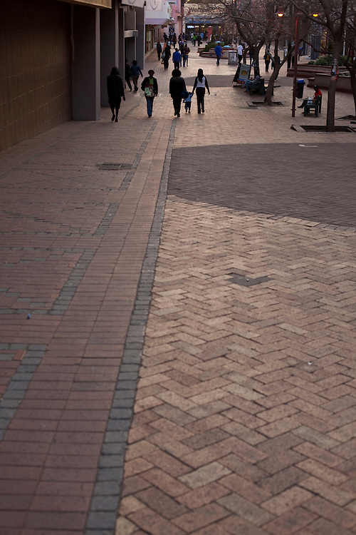 Pedestrian shopping street in Windhoek, capital of Namibia, Africa
