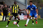 Burton Albion forward Lucas Akins controls the ball during the The FA Cup match between Burton Albion and Peterborough United at the Pirelli Stadium, Burton upon Trent, England on 7 November 2015. Photo by Aaron Lupton.