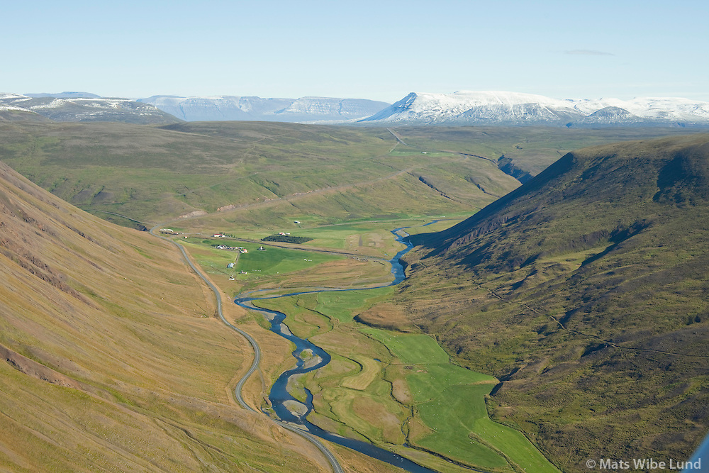 Bólstaðarhlíð séð til austurs, Svartá, Húnavatnshreppur áður Bólstaðarhlíðarhreppur /  Bolstadarhlid viewing east, Svarta river, Hunavatnshreppur former Bolstadarhlidarhreppur.