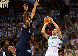 Sani Becirovic of Slovenia during to the Preliminary Round - Group B basketball match between National teams of USA and Slovenia at 2010 FIBA World Championships on August 29, 2010 at Abdi Ipekci Arena in Istanbul, Turkey.  (Photo by Vid Ponikvar / Sportida)