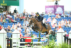 Rivetti Cassio, (UKR), Vivant<br /> Team Competition round 1 and Individual Competition round 1<br /> FEI European Championships - Aachen 2015<br /> © Hippo Foto - Stefan Lafrentz<br /> 19/08/15