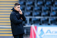 Head Coach Allen Clarke of Ospreys during the pre match warm up<br /> <br /> Photographer Simon King/Replay Images<br /> <br /> Guinness PRO14 Round 6 - Ospreys v Southern Kings - Saturday 9th November 2019 - Liberty Stadium - Swansea<br /> <br /> World Copyright © Replay Images . All rights reserved. info@replayimages.co.uk - http://replayimages.co.uk