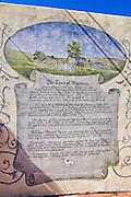 Mural describing the history of Harmony, California USA