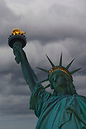 Storm clouds over the Statue of LIberty