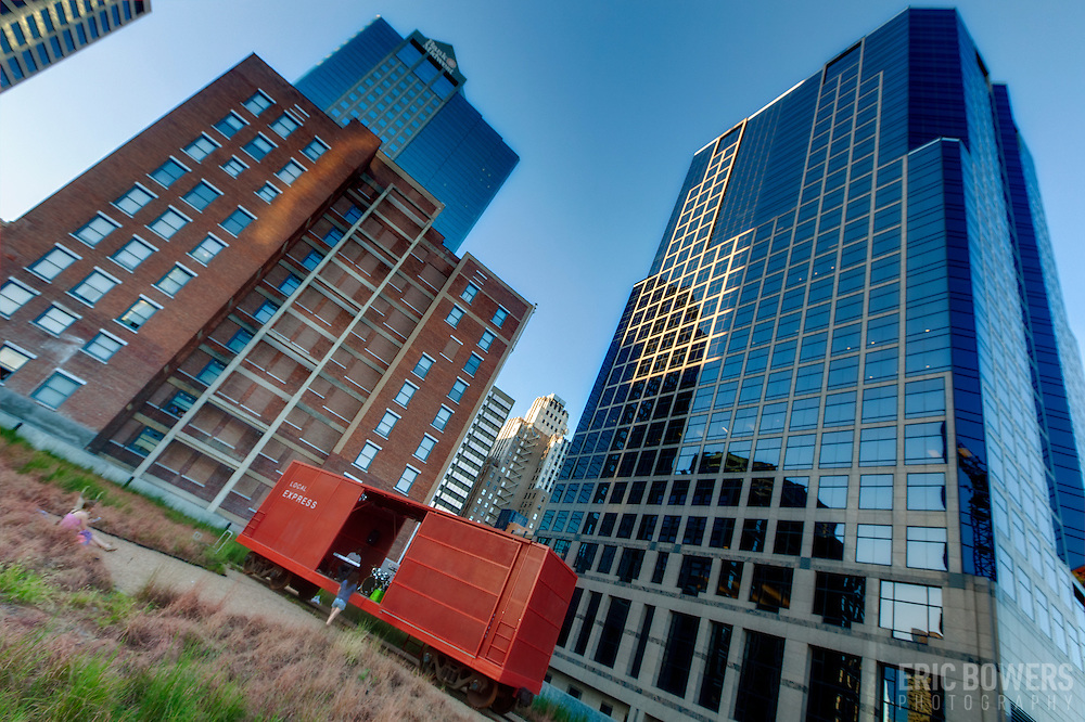Kansas City Highrises From 13th & Main Green Roof
