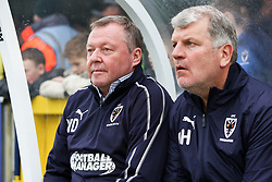 AFC Wimbledon Manager Wally Downes (left) - Mandatory by-line: Arron Gent/JMP - 16/02/2019 - FOOTBALL - Cherry Red Records Stadium - Kingston upon Thames, England - AFC Wimbledon v Millwall - Emirates FA Cup fifth round proper