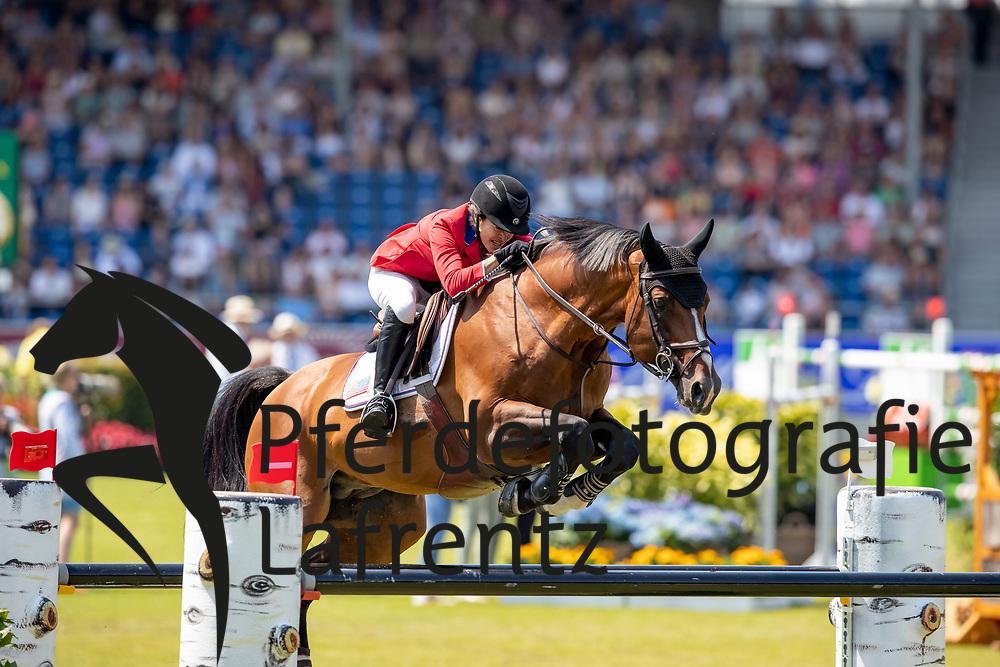 ENGLE Margie (USA), Dicas<br /> Aachen - CHIO 2018<br /> Preis von Nordrhein-Westfalen<br /> 20. Juli 2018<br /> © www.sportfotos-lafrentz.de/Stefan Lafrentz