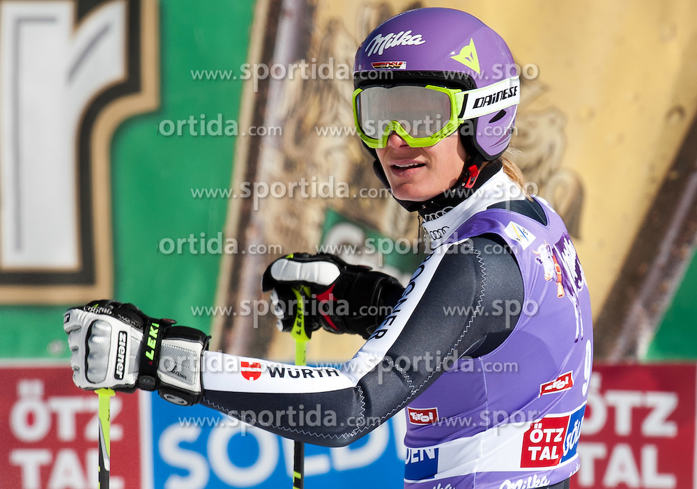 22.10.2011, Rettenbachferner, Soelden, AUT, FIS World Cup Ski Alpin, Damen, Riesenslalom, im Bild Maria Hoefl-Riesch (GER) // during Ladies ginat Slalom at FIS Worldcup Ski Alpin at the Rettenbachferner in Solden on 22/10/2011. EXPA Pictures © 2011, PhotoCredit: EXPA/ Johann Groder