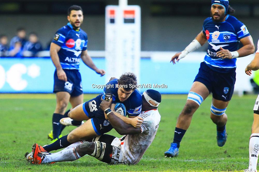 Pierre BERARD - 20.12.2014 - Montpellier / Stade Toulousain - 13eme journee de Top 14 -<br />Photo : Nicolas Guyonnet / Icon Sport