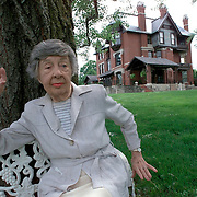 Ninety-eight year old Bea  Eberhart is as much a part of history and lore as the grandiose Brucemore Victorian mansion that she lives next to in Cedar Rapids, Iowa, USA.  Eberhart, who lives in a white cottage on the grounds of the famous landmark, worked for the former residents and was given the right to stay as long as she wanted.  She has stayed, long after they died and their house became a museum.