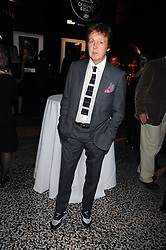 SIR PAUL McCARTNEY at British Style Observed - part of National Magazine's 30 Days of Fashion & Beauty festival featuring photographs by Mary McCartney with proceeds from the evening going to Macmillan Cancer Care held at the Natural History Museum, Cromwell Road, London on 16th September 2008.