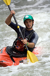 Paddling on whitewater rapids