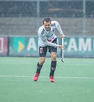 AMSTELVEEN - Nicky Leijs (Adam)  tijdens de hoofdklasse competitiewedstrijd mannen, Amsterdam-HCKC (1-0).  COPYRIGHT KOEN SUYK
