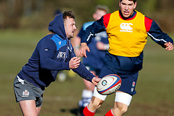 Andy Uren of Bristol Rugby joins in during amn England U20 session at Bristol Rugby's training facility ahead of the U20 Six Nations match versus Wales - Mandatory byline: Rogan Thomson/JMP - 08/03/2016 - RUGBY UNION - Clifton Rugby Club - Bristol, England - England Under 20s Training at Bristol Rugby.