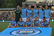 Manchester City poses for a team photo prior to their game against the North Carolina Courage during an International Champions Cup women's soccer game, Thurday, Aug. 15, 2019, in Cary, NC. The North Carolina Courage defeated Manchester City Women 2-1.  (Brian Villanueva/Image of Sport)