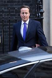 © licensed to London News Pictures. London, UK 17/10/2012. David Cameron leaving Downing Street on 17/10/12. Photo credit: Tolga Akmen/LNP