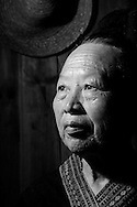 Kaili, Guizhou, China, August 10th 2007: Portrait of a 73 year old Miao woman..Photo: Joseph Feil