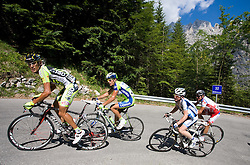 Alessandro Proni (ITA) of ISD - NERI and Vladimir Miholjevic   (CRO) of Liquigas at 1st stage of Tour de Slovenie 2009 from Koper (SLO) to Villach (AUT),  229 km, on June 18 2009, in Koper, Slovenia. (Photo by Vid Ponikvar / Sportida)