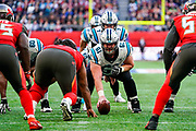 Carolina Panthers Offensive Linesman Matt Paradis (61) lines up to take the snap during the International Series match between Tampa Bay Buccaneers and Carolina Panthers at Tottenham Hotspur Stadium, London, United Kingdom on 13 October 2019.