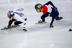 20-02-2018 KOR: Olympic Games day 11, PyeongChang<br /> 500m mannen shorttrack / Yira Seo of Korea, Dylan Hoogerwerf of the Netherlands