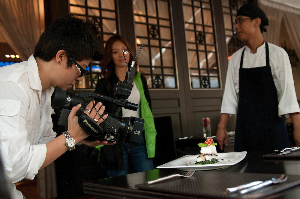 Snow fish special on display during filming for One Channel Asia TV at Ken Hom's restaurant Maison Chin in Bangkok, Thailand.