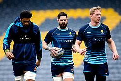 Cornell Du Preez, Michael Fatialofa and Scott Van Breda of Worcester Warriors take part in training ahead of the Gallagher Premiership fixture with Bristol Bears  - Mandatory by-line: Robbie Stephenson/JMP - 21/03/2019 - RUGBY - Sixways Stadium - Worcester, United Kingdom - Worcester Warriors Training