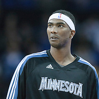 04 October 2010: Minnesota Timberwolves guard Corey Brewer #22 is seen prior to the Minnesota Timberwolves 111-92 victory over the Los Angeles Lakers, during 2010 NBA Europe Live, at the O2 Arena in London, England.