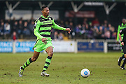 Forest Green Rovers Ethan Pinnock(16) runs forward during the Vanarama National League match between Bromley FC and Forest Green Rovers at Hayes Lane, Bromley, United Kingdom on 7 January 2017. Photo by Shane Healey.