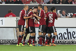 25.10.2013, Mercedes Benz Arena, Stuttgart, GEr, 1. FBL, VfB Stuttgart vs 1.FC Nuernberg, Fussball, 1.Bundesliga, 25.10.2013, 10. Runde, im Bild Jubel,Freude, Emotion nach dem 1:1 Ausgleich von Josip Drmic ( 1 FC Nuernberg ) // during the German Bundesliga 10th round match between VfB Stuttgart and 1. FC Nuernberg at the Mercedes Benz Arena in Stuttgart, Germany on 2013/10/26. EXPA Pictures © 2013, PhotoCredit: EXPA/ Eibner-Pressefoto/ Langer<br /> <br /> *****ATTENTION - OUT of GER*****