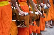 Detail of monks bowls, Luang Prabang, Laos