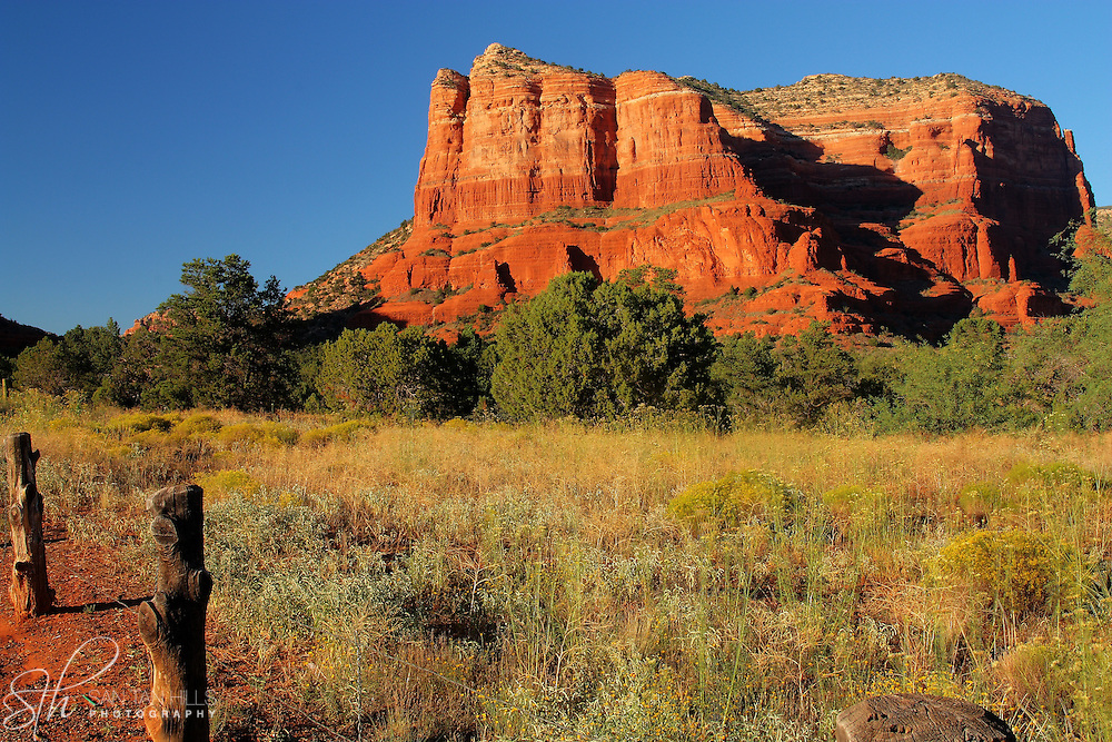 Courthouse Rock at Sunset, in Sedona, AZ