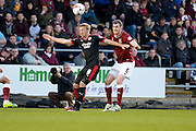 Crawley Town striker Lee Barnard during the Sky Bet League 2 match between Northampton Town and Crawley Town at Sixfields Stadium, Northampton, England on 19 April 2016. Photo by Dennis Goodwin.