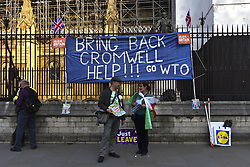 March 29, 2019 - London, United Kingdom - Pro Brexit supporters gather at Parliament Square the day the UK should have left the European Union, London on March 29, 2019. The government lost by 344 votes to 286, a margin of 58. It means the UK has missed an EU deadline to delay Brexit to 22 May and leave with a deal. (Credit Image: © Alberto Pezzali/NurPhoto via ZUMA Press)