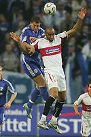 Fotball<br /> Bundesliga Tyskland<br /> Foto: Witters/Digitalsport<br /> NORWAY ONLY<br /> <br /> 20.04.2006<br /> v.l. Marcelo Bordon, Frederic Kanoute Sevilla<br /> UEFA-Cup Halbfinale FC Schalke 04 - Sevilla FC