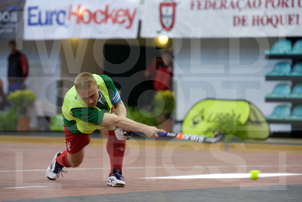 2017 EuroHockey Indoor Junior Championship (M)<br /> 10 Switzerland - Belarus<br /> Foto: Artsiom (C) Skorb stroke.<br /> FFU PRESS AGENCY COPYRIGHT FRANK UIJLENBROEK