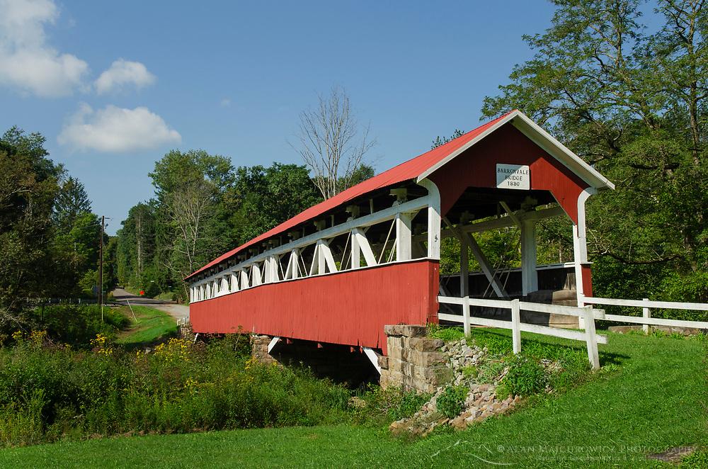 Barronvale Covered Bridge. Spanning Laurel Hill Creek. Laurel Highlands, Somerset County  Pennsylvania
