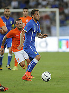 Claudio Marchisio of Italy during the International Friendly match at Stadio San Nicola, Bari<br /> Picture by Stefano Gnech/Focus Images Ltd +39 333 1641678<br /> 04/09/2014
