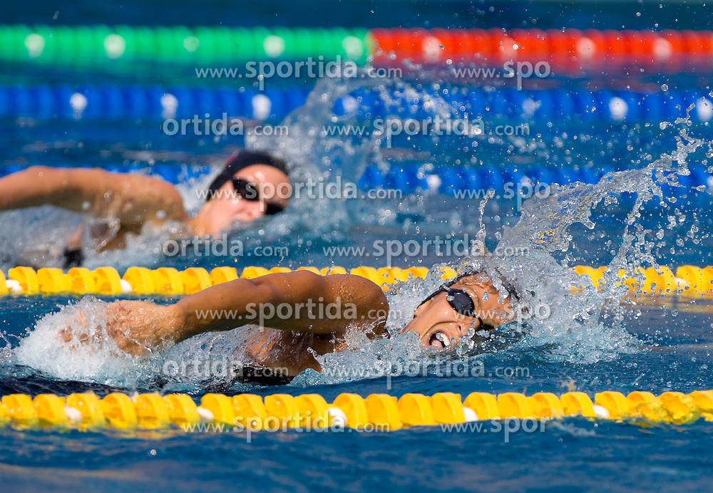 Mojca Sagmeister of Fuzinar Ravne (L) and Nina Sovinek of PK Olimpija  at 36 International swimming meeting City of Ljubljana Cup, on May 21, 2011 in Kodeljevo pool, Ljubljana, Slovenia. (Photo By Vid Ponikvar / Sportida.com)
