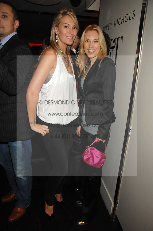 Left to right, OLIVIA BUCKINGHAM and IMOGEN LLOYD-WEBBER at a party to celebrate the launch of the Kova &amp; T fashion label and to re-launch the Harvey Nichols Fifth Floor Bar, held at harvey Nichols, Knightsbridge, London on 22nd November 2007.<br />