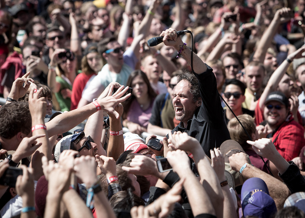 Greg Attonito of Bouncing Souls at Riot Fest 2014
