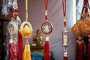 Buddhist souvenirs for pilgrims in Nagpur, India<br /> <br /> <br /> Photo by Christina Sjögren<br /> <br /> <br /> Buddistiska amuletter till försäljning för pilgrimer i Nagpur, Indien