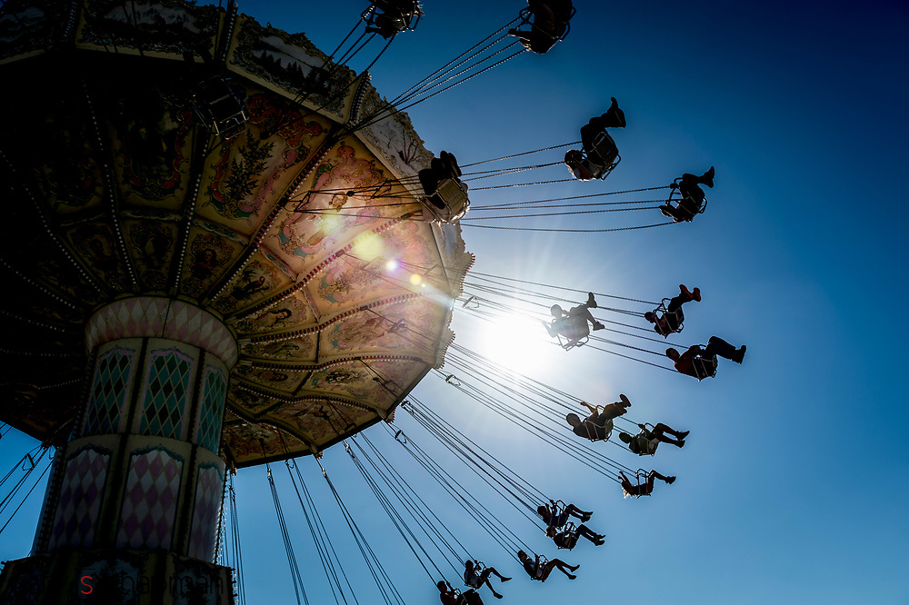 Mechanical swing at the Strawberry Festival Fair in Florida