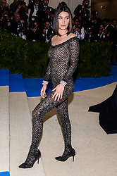 Bella Hadid arriving at The Metropolitan Museum of Art Costume Institute Benefit celebrating the opening of Rei Kawakubo / Comme des Garcons : Art of the In-Between held at The Metropolitan Museum of Art  in New York, NY, on May 1, 2017. (Photo by Anthony Behar) *** Please Use Credit from Credit Field ***