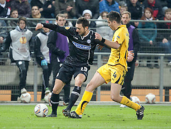 14.12.2011, UPC Arena, Graz, AUT, UEFA Europa League , Sturm Graz vs AEK Athen FC, im Bild Darko Bodul (SK Puntigamer Sturm Graz, #19) und Kostas Manolas (AEK Athen FC, Defender, #4) // during UEFA Europa League football game between Sturm Graz and AEK Athens FC at UPC Arena in Graz, Austria on 14/12/2011. EXPA Pictures © 2011, PhotoCredit: EXPA/ E. Scheriau